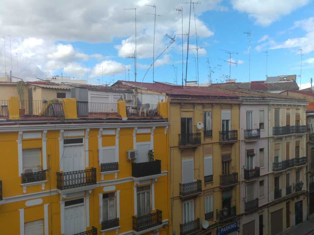 Valencia Spain rooftop view from hotel room