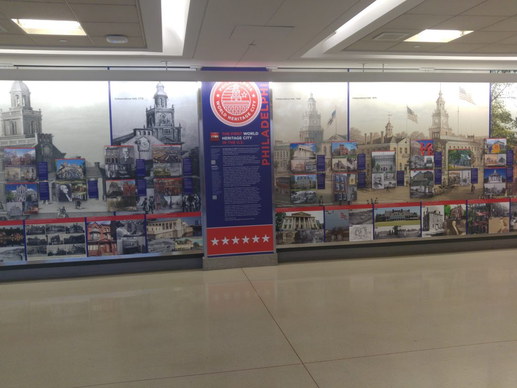 Wall of History in Philadelphia International Airport