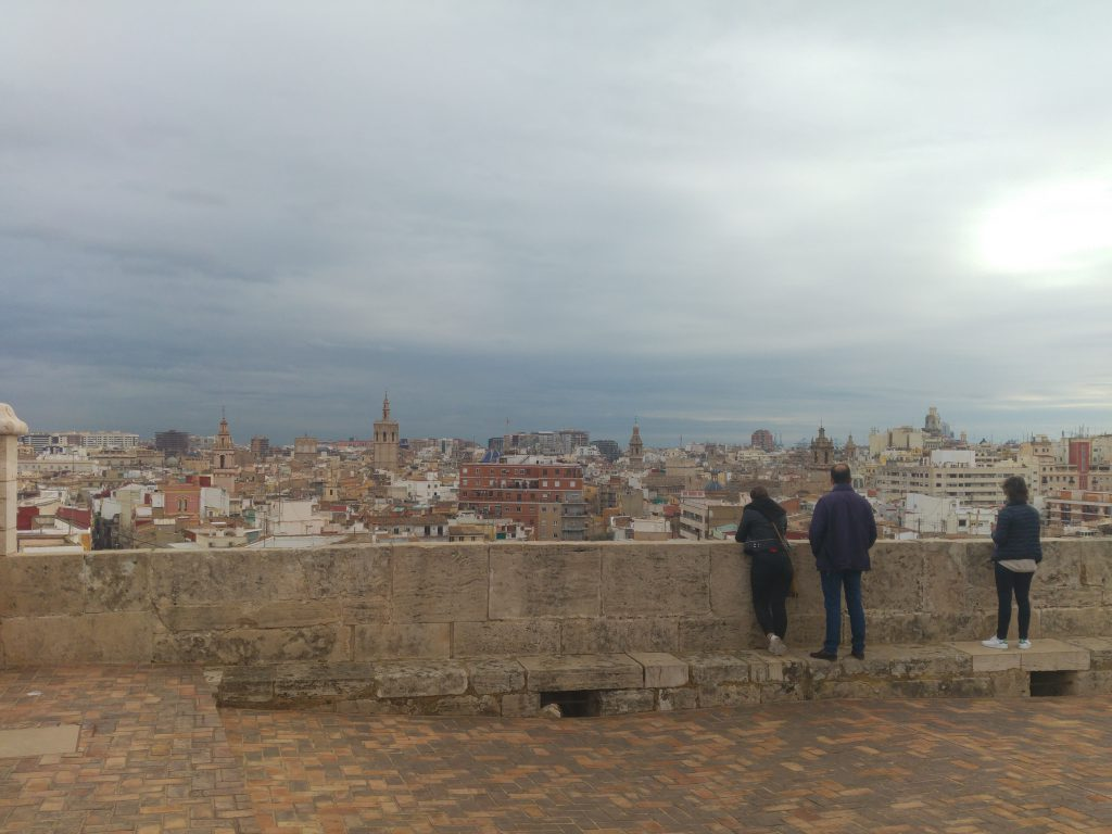 From atop the Torres De QUart in Valencia, Spain. The colors seen were still vibrant even in a cloudy day.