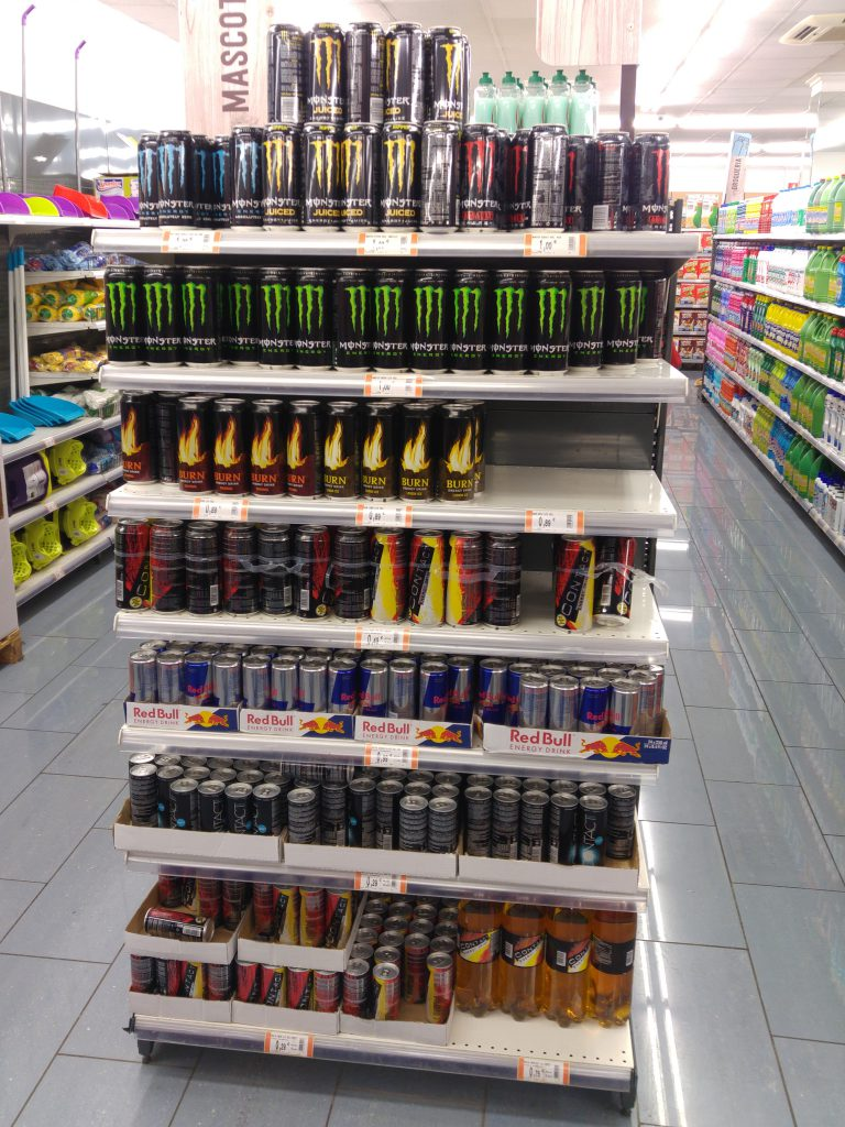 Hey Look, they even have Monster energy drinks. I told myself, if I need some of this, I would know I am out of shape. I will stick with some good coffee.