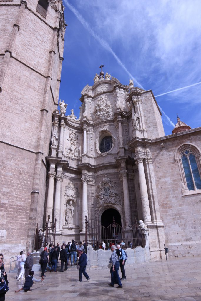 The entryway into the Cathedral of Valencia