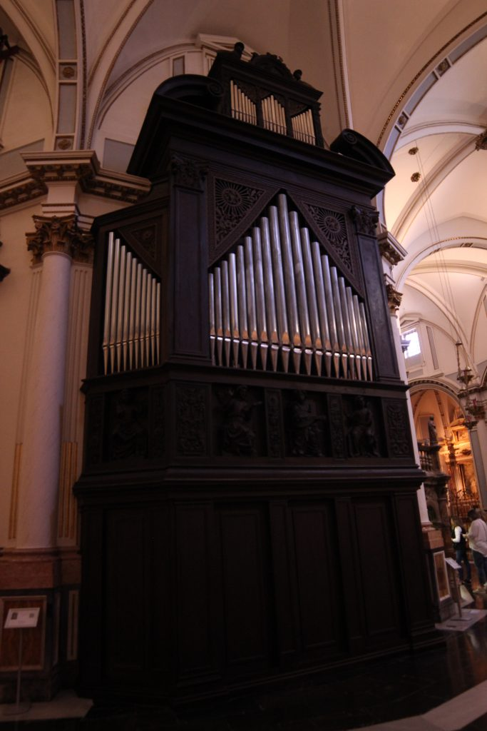 The organ within the Cathedral of Valencia