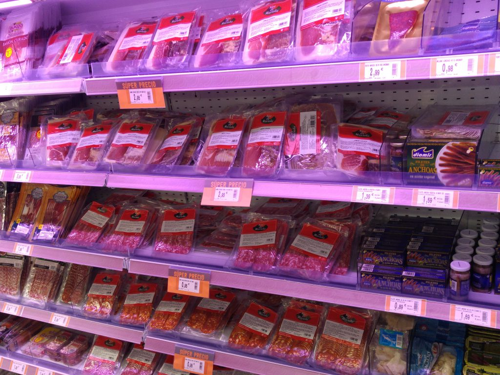 Kupps wide selection of vacuum packaged meats.