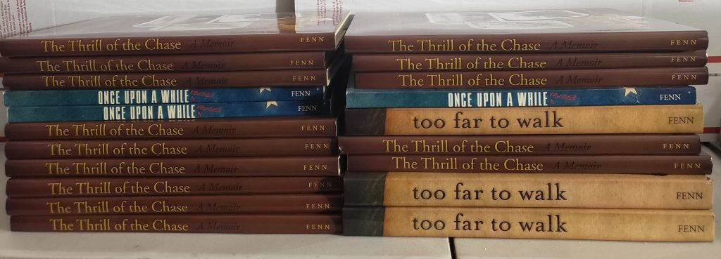The hoard of Forrest Fenn's Autographed books.